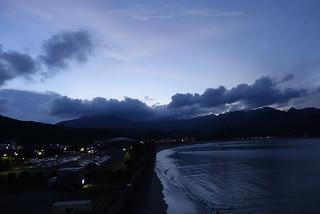 One scene of sunset in Katsuura.