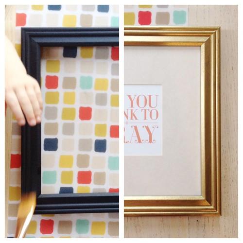easy frame makeover | yourwishcake.com