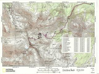Gladstone Peak Topo Map With Waypoints