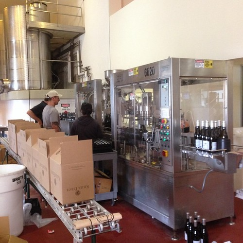 Bottling at Keller Estates @anakellerw #petalumamade