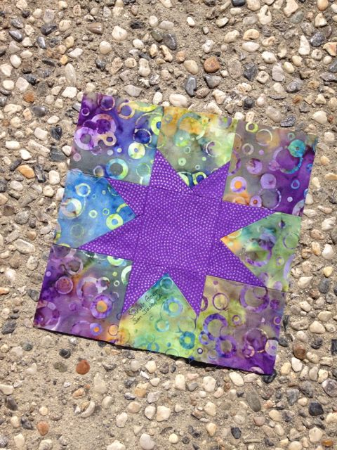 Wonky Star Astronomical Quilt Block