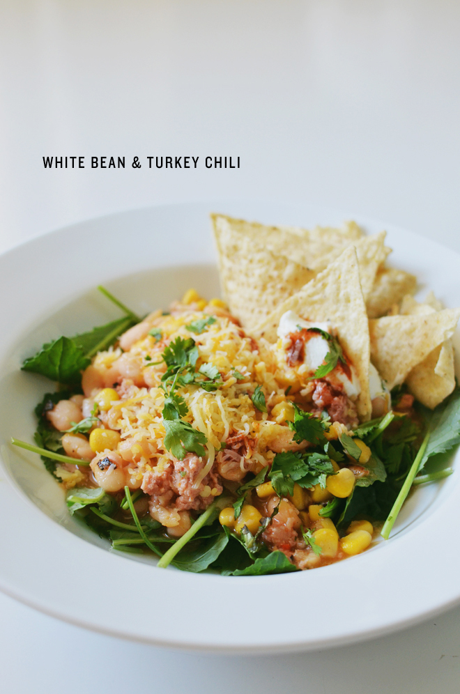 white bean & turkey chili : CAKIES