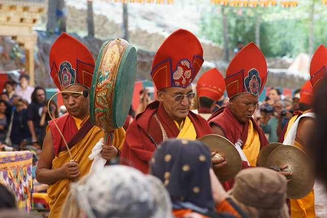 Cham dance, festival at Takthok Gompa. Ladakh, 06 Aug 2014. 137