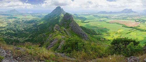 mountain landscape summit mauritius troismamelles