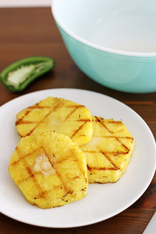 Grilled Pineapple and Coconut Guacamole | girlversusdough.com