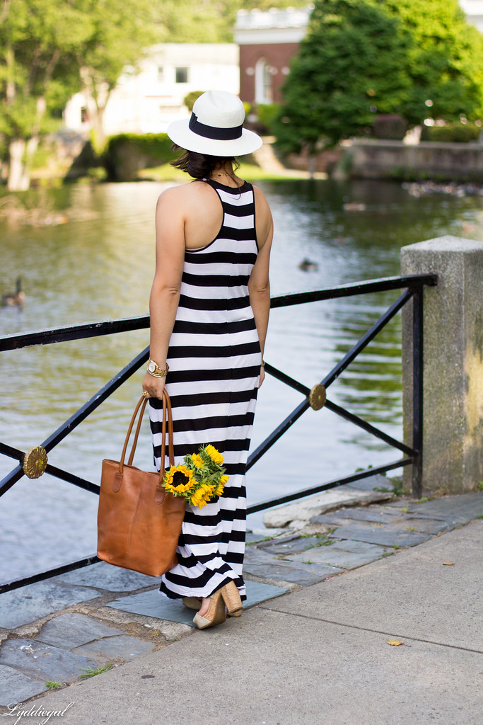 striped maxi dress and sunflowers-1.jpg