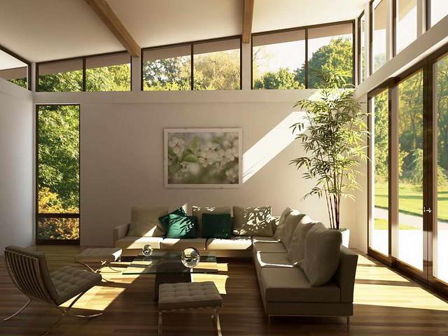 Cây xanh cho phòng khách thêm sinh động
