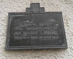 Photo of Harry Lauder brass plaque