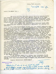 076. Habsburg Ottó levele Bakách-Bessenyey Györgynek a várható háborúról és a magyar exilkormány létrehozásának lehetőségeiről