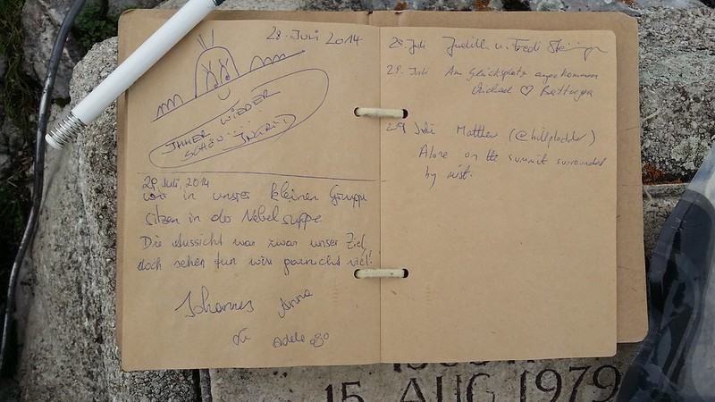 Frauenkopf summit logbook #sh