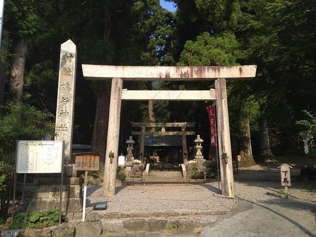 藤原岳 裏道(聖宝寺道)への道 鳴谷神社