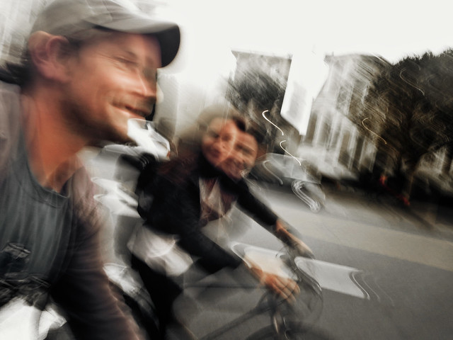 Maite and Stephen on bike ride to Sausalito (2014)