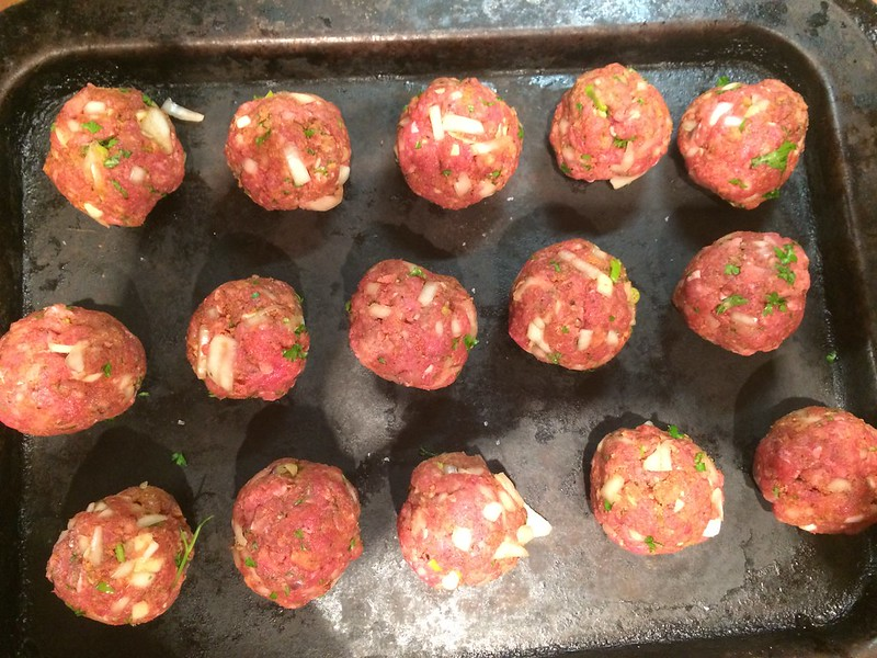 Spicy Meatballs with Herby Ragu : Divide into twelve