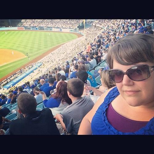 Ballpark selfies are a requisite. #mlb #baseball #ladodgers #dodgerstadium #losangeles #kategoestocalifornia