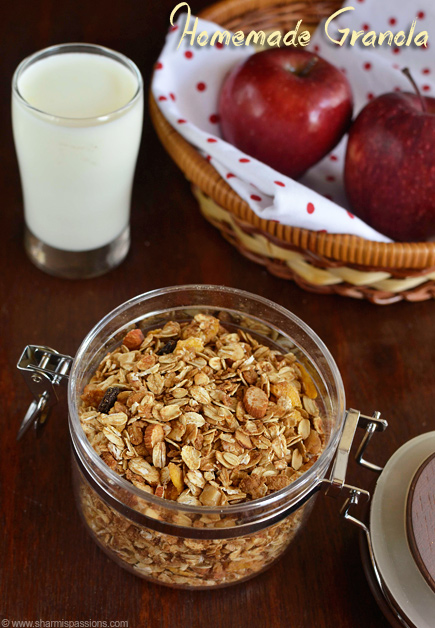 Homemade Granola Recipe – Healthy Homemade Muesli Recipe