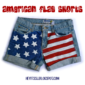 DIY American Flag Shorts by Hey, It's SJ