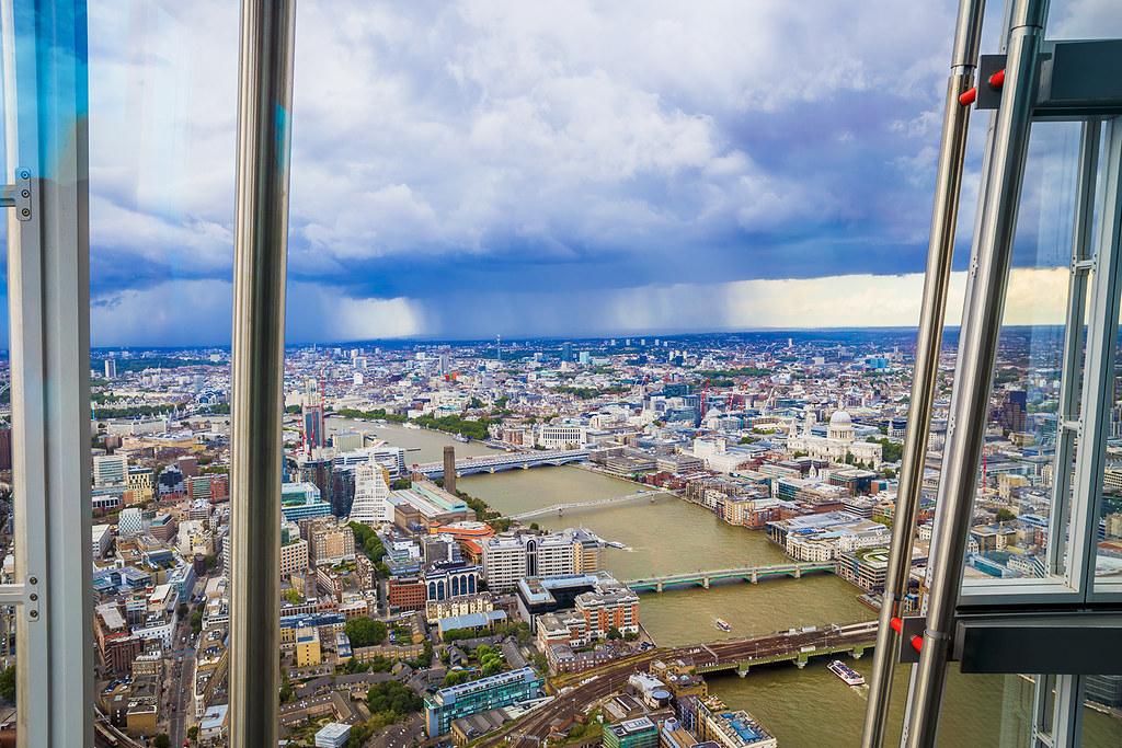Rain over London