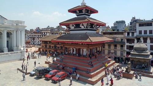 Nepal- Kathmandu - Durbar Square With Kumari Garh