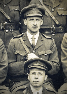 Close up of Henry Pickerill photo staff, Queen's Hospital, Sidcup 4 June 1918