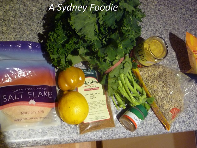Kale Chips - ingredients