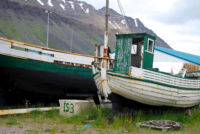 Boats in Isafjordur, Iceland