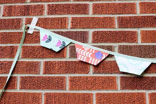 Geometric Bliss Half-Hexagon Bunting