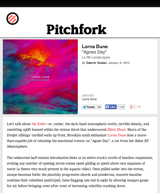 "LD Pitchfork ""Agnes Day"""