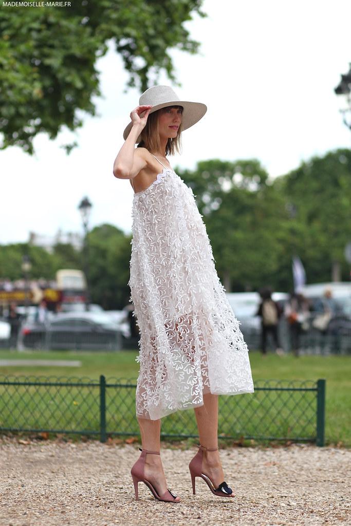 Anya Ziourova at Paris fashion week Haute Couture