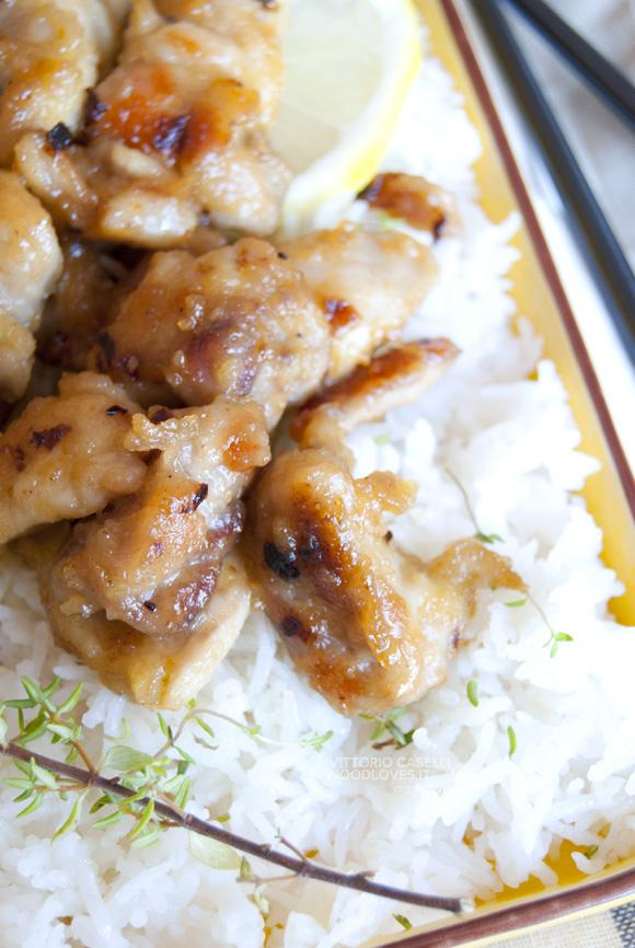 Pollo al limone con riso basmati 3