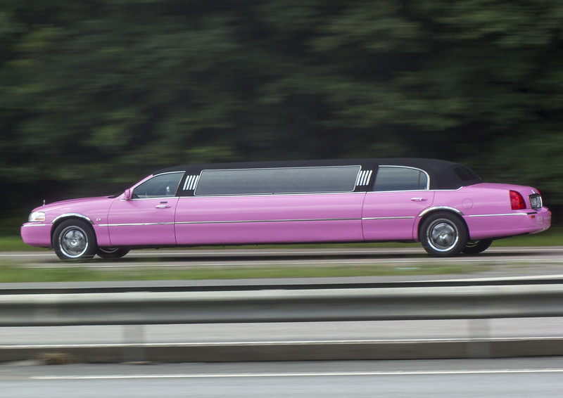 Party in the pink limo!