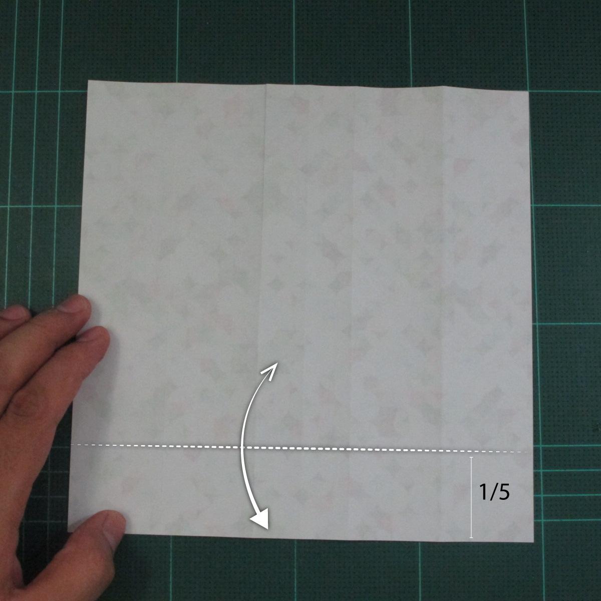 วิธีพับกล่องของขวัญแบบมีฝาปิด (Origami Present Box With Lid) 009