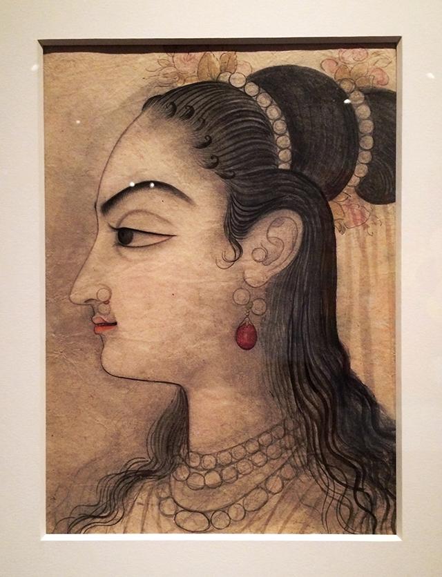 mid-1700s Indian portrait study
