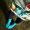 It's a gnome socks and elephant dress kind of day today. And welcome, leggings season!
