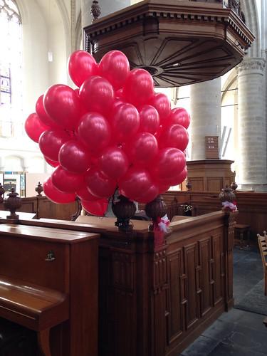 Heliumballonnen Sint Catharijnekerk Brielle