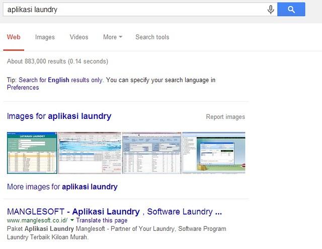aplikasi laundry manglesoft page one