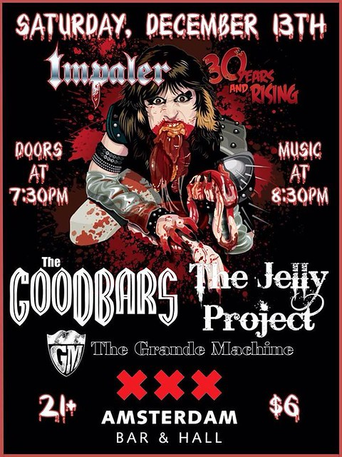 12/13/14 Impaler/ The GooDBarS/ The Jelly Project/ Grande Machine @ Amsterdam Bar & hall, St. Paul, MN