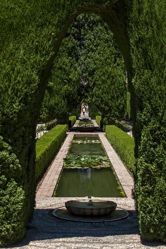 The gardens - Les jardins - La Alhambra de Granada Spain Andalusia - Picture Image Photography