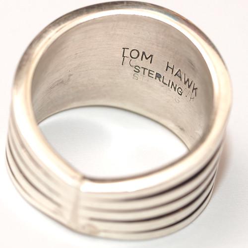 "Indian Jewelry / Navajo ""Tom Hawk"" Silver Ring"