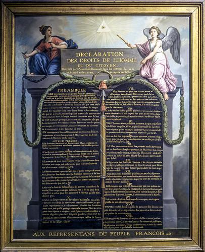 La déclaration des droits de l'Homme et du Citoyen - Jean-Jacques Le Barbier (1738-1826) - 1789
