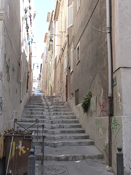 escalier du panier