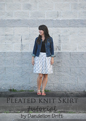 Pleated Knit Skirt Tutorial