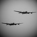 """Two Avro Lancaster's in the air, Canadian Lancaster 'Vera' B.X C-GVRA FM213 and the BBMF Lancaster """"Thumper Mk III"""" KCA PA474"""