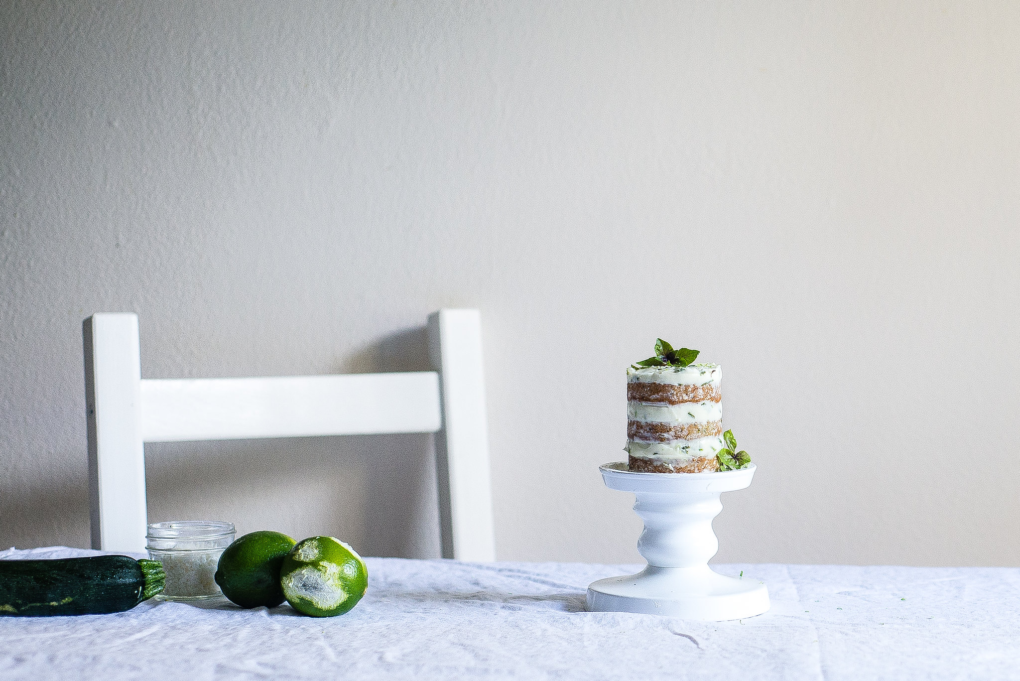 Mini Zucchini Cake with Basil-Lime Icing