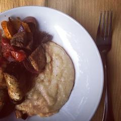 2014-8-18 Buckwheat polenta and roasted veggies