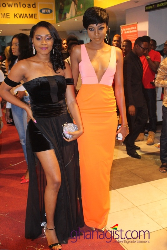 Tana and Yvonne Nelson on arrival