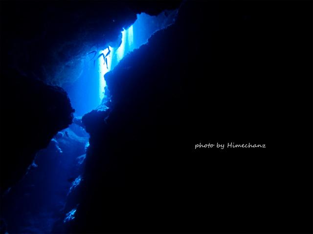 洞窟のレーザービーム