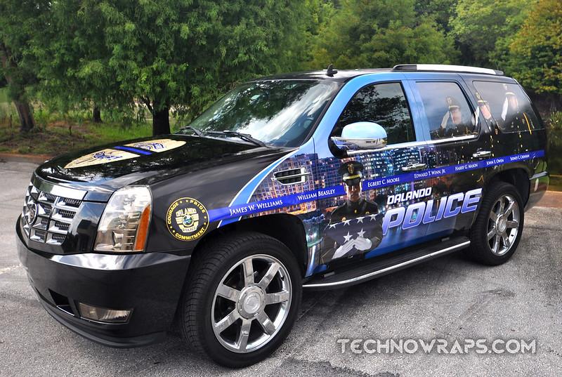 Orlando Police car wrap