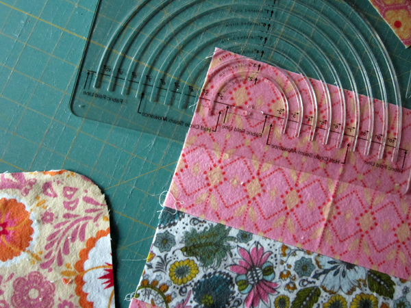burp cloths in Folksy Flannel
