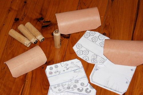 Bracers, stamps and designs.