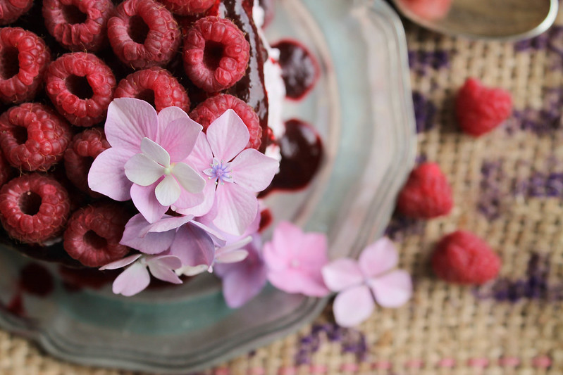 Layer cake framboise recette